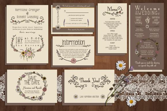 Wildflower Wedding Invitation Suite