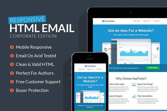 AppTurbo HTML Email Template