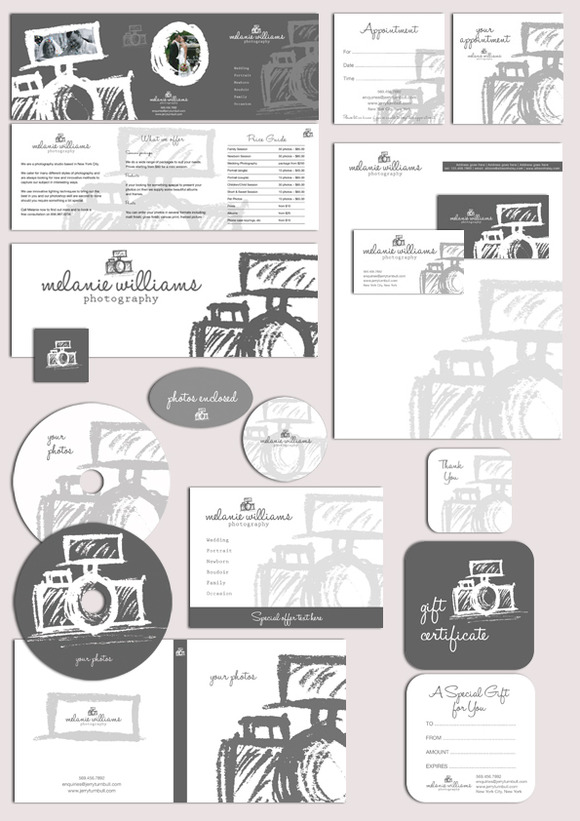 Photography Logo Marketing Set