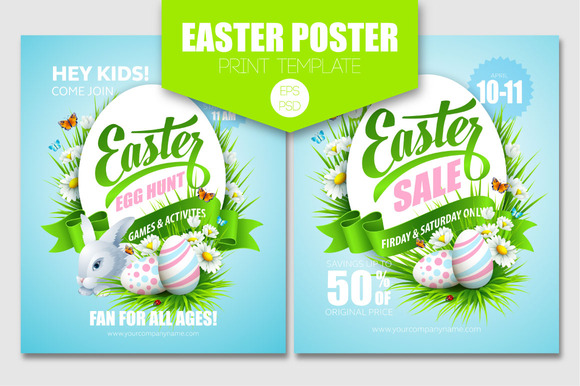 Easter Poster Print Template