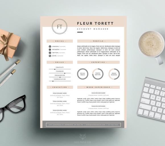 Hipster Resume Template CV Design