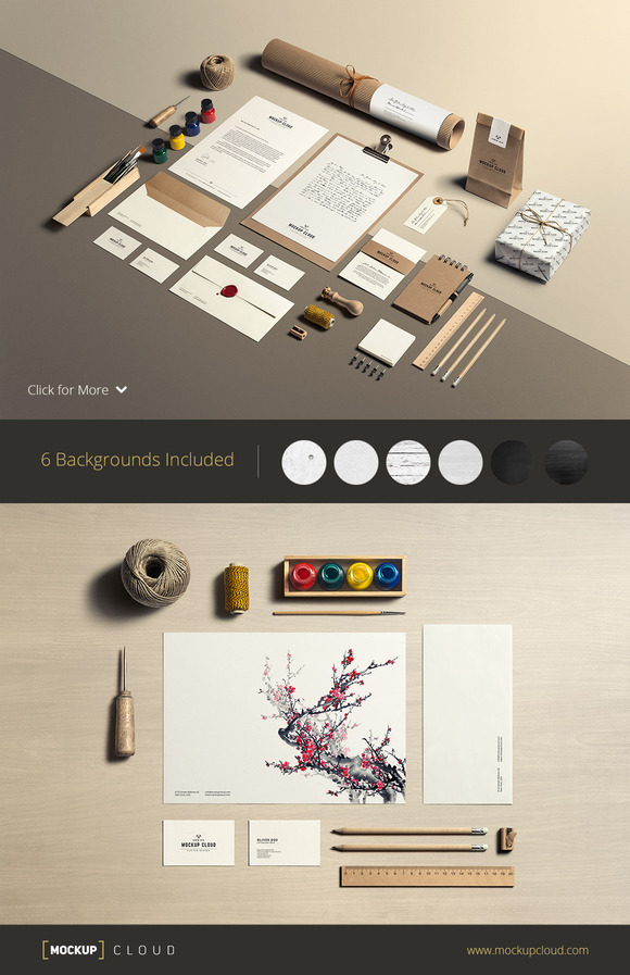 Art Craft Stationery Mock-Up