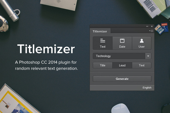 Titlemizer Photoshop Plugin