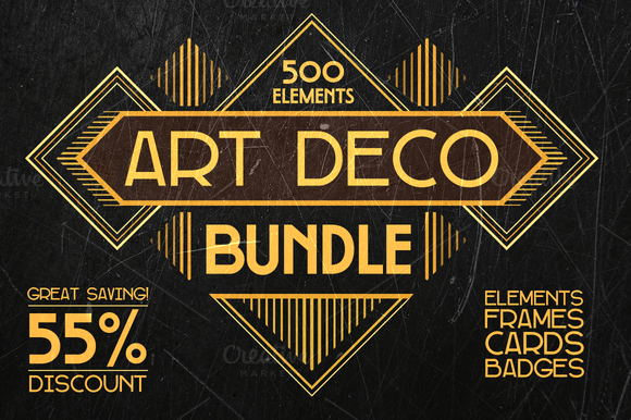 Art Deco Bundle 500 Elements