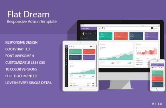 Flat Dream Responsive Admin Templa