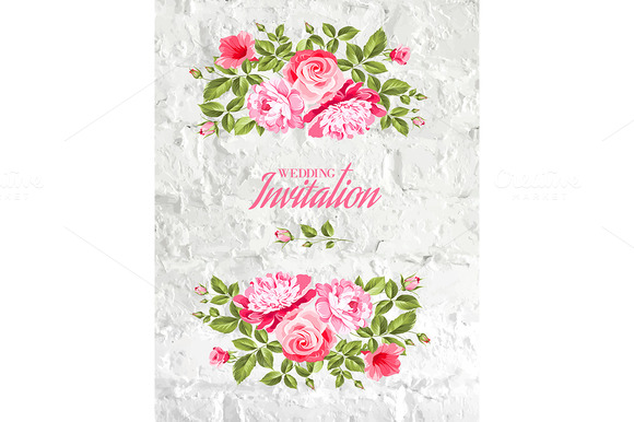 Invitation List With Rose Flowers