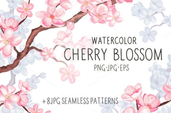 Watercolor Cherry Blossom