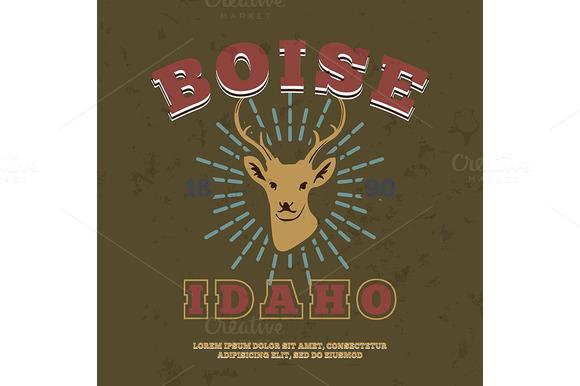 Boise Idaho T-shirt Graphic Print