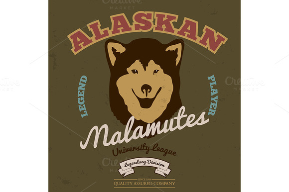 Alaskan Malamute Club Tee Graphic