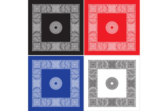 Set Of 4 Paisley Bandana S II