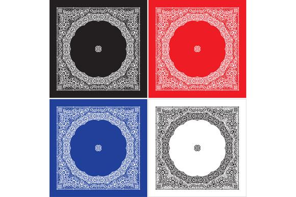 Set Of 4 Paisley Bandana S III