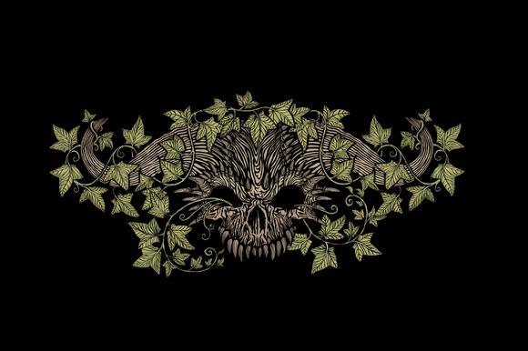 Monster Skull With Horns