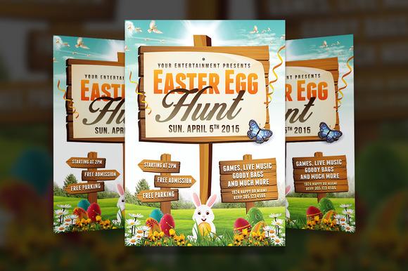 Easter Egg Hunt 2 Flyer Template