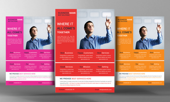 A4 Multi Use Business Flyer Template