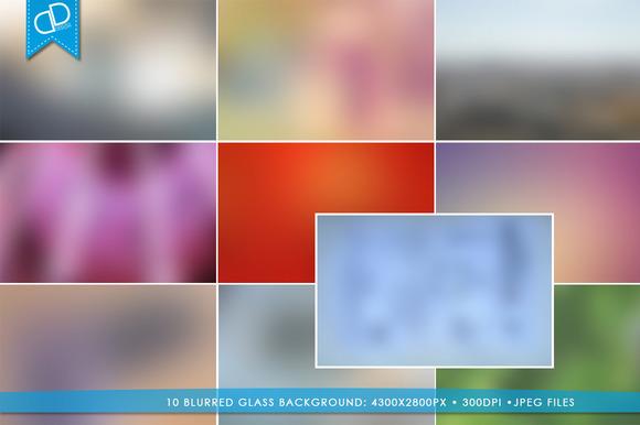 10 Blurred Glass Background