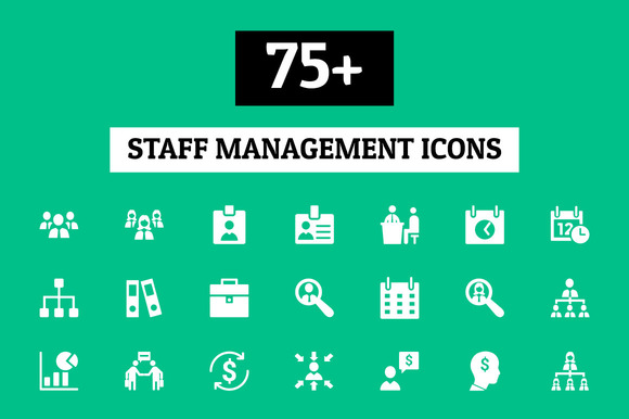 75 Staff Management Icons