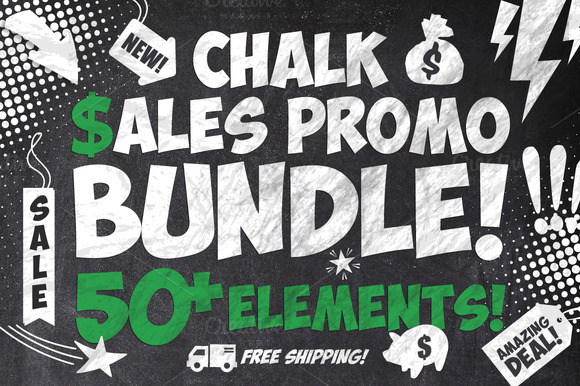 50 Chalk Sales Promo Bundle