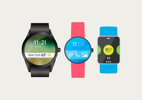 11 Flat Smartwatch Mockup Vectors