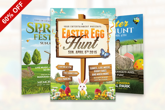 60% OFF Spring Easter Bundle Flyer