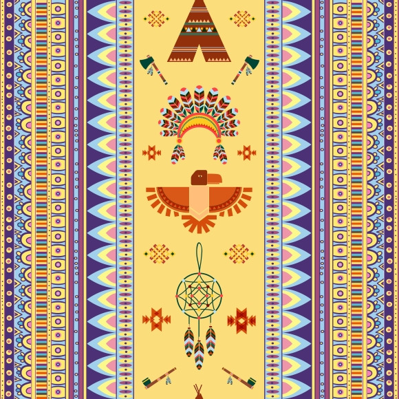 Vector Vintage Tribal Ethnic Pattern
