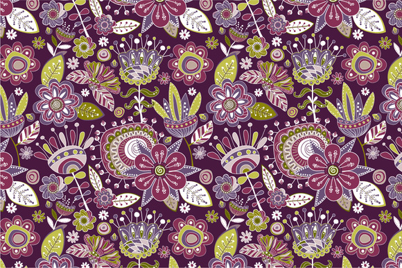 3 Floral Seamless Patterns