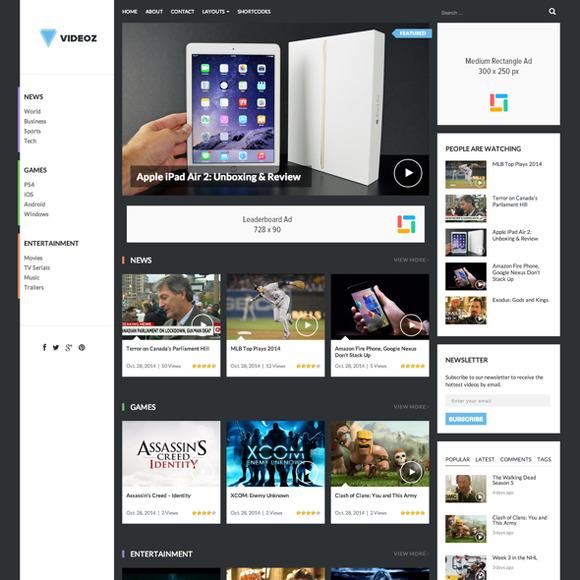 VideoZ WordPress Video Theme
