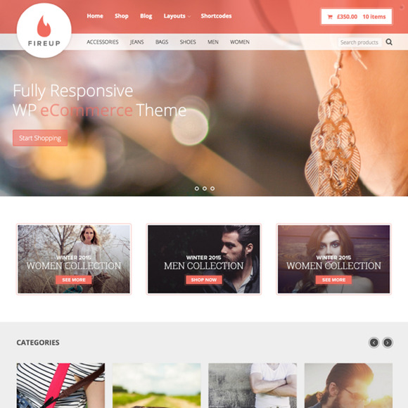 FireUp WordPress ECommerce Theme