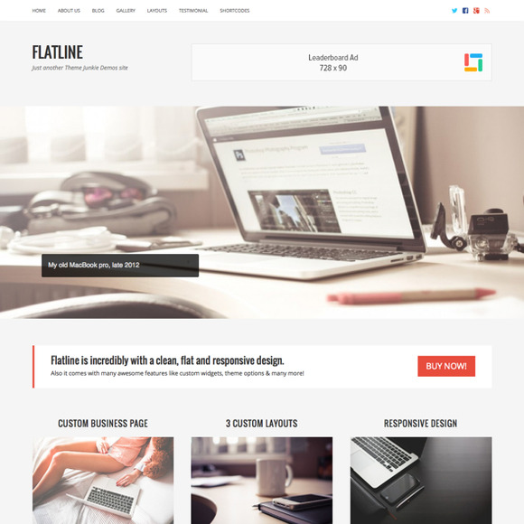 FlatLine WordPress Business Theme