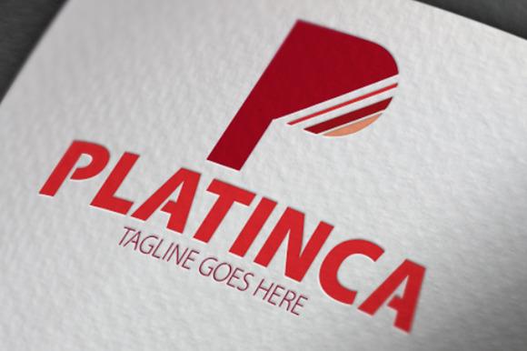 Platinca P Letter Logo