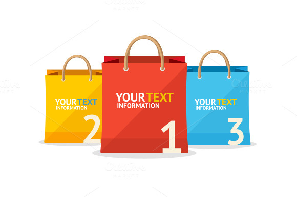 Vector Paper Bag Sale Option Banner