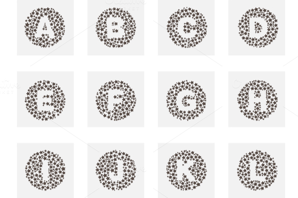 Dotted Star Letters Logos