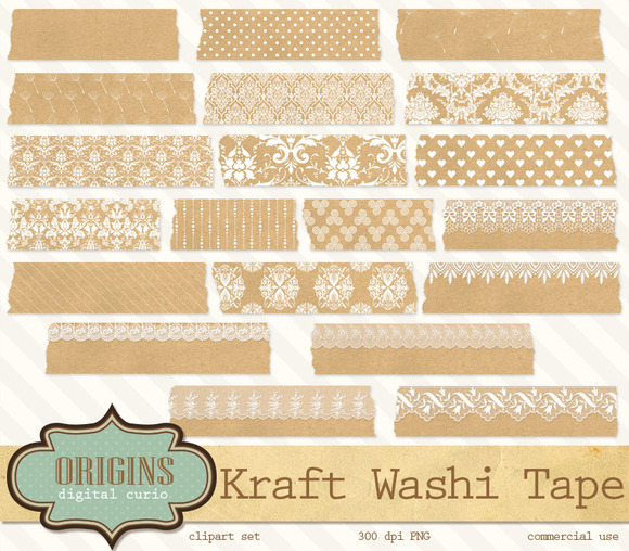 Kraft Paper Digital Washi Tape