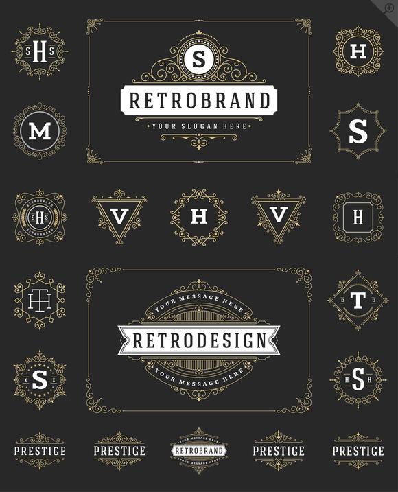 20 Luxury Ornaments Logos Monogram