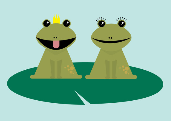 Frogs In Love Vector