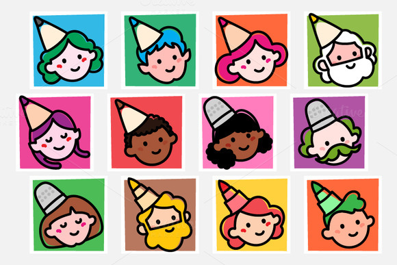 12 Cute Gnomes Avatars