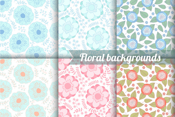 6 Flower Seamless Pattern