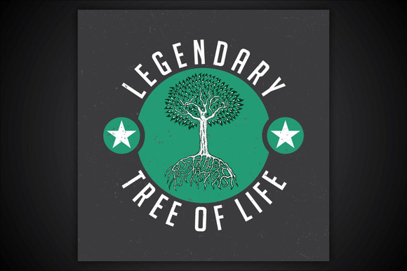 Legendary Tree Of Life T-shirt Label