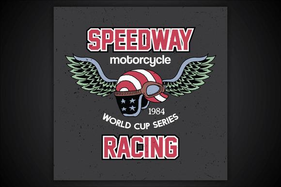 Speedway Motorcycle Racing T-shirt