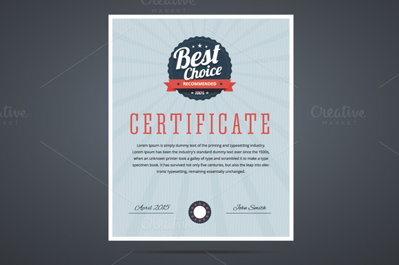 Best Choice Certificate