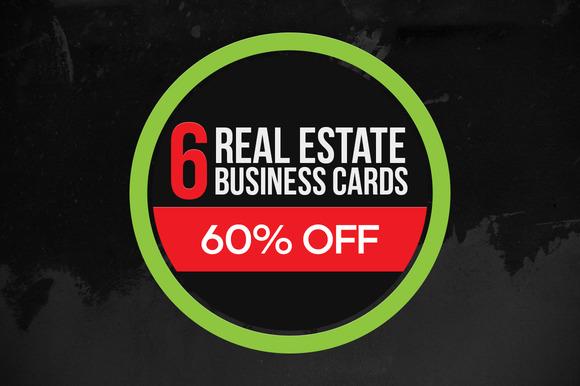 6 Real Estate Business Cards Bundle