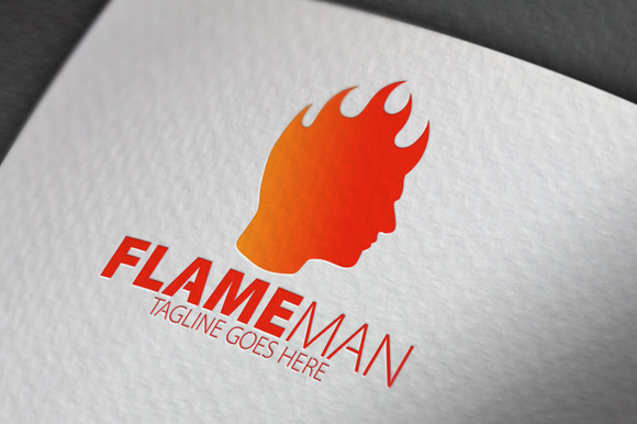 Flame Man Logo