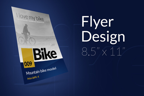 Bike MockUp Flyer Design