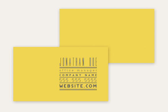Business Card Template Typography