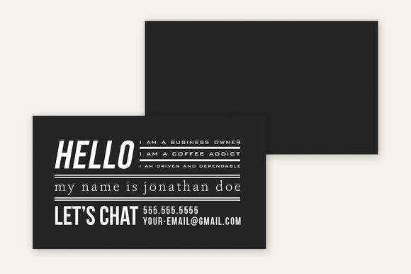 Business Card Template Minimal