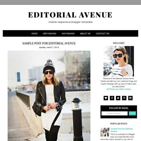 Editorial Avenue Blogger Template