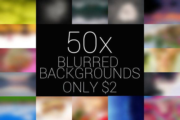 50x Blurred Backgrounds