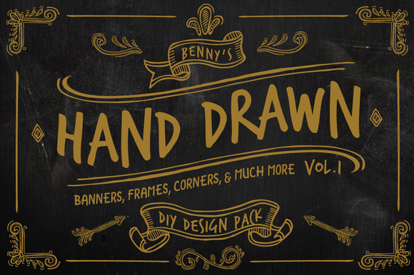 Hand Drawn DIY Design Pack Vol.1