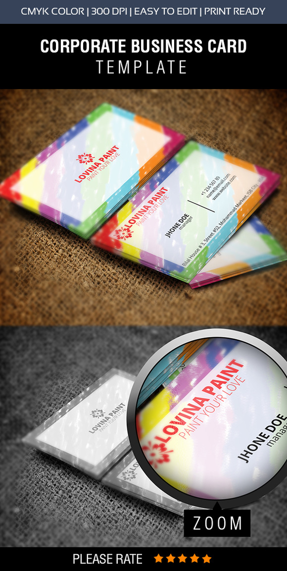Lovina Paint Business Card Design