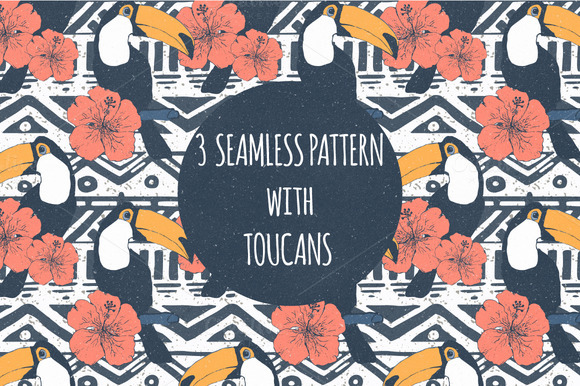 Patterns With Toucans