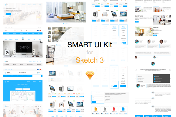 Sketch 3 UI Kit SMART